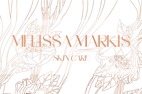 Melissa Markis Spa Product Logo with Floral Background 2