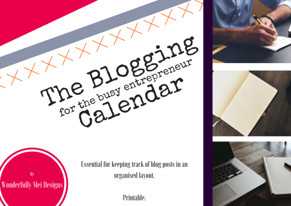 The Blogging Calendar Front Cover