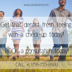 Get that dentist fresh feeling with a check-up today!